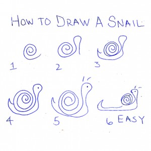 How to draw a snail nancy nichols artist for How do you draw a snail