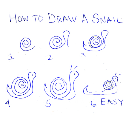 How to draw snails for Simple snail drawing